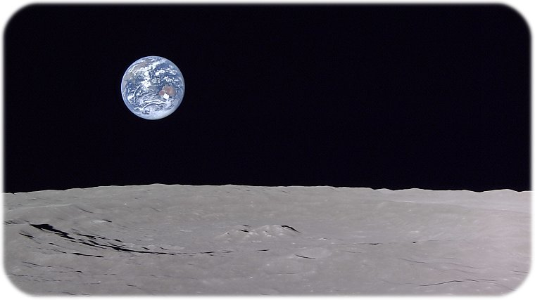 Earth as seen from the lunar surface of the moon