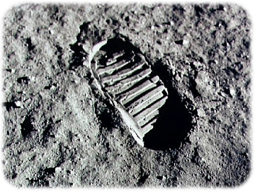 Apollo 11 Foot Print on Lunar Surface