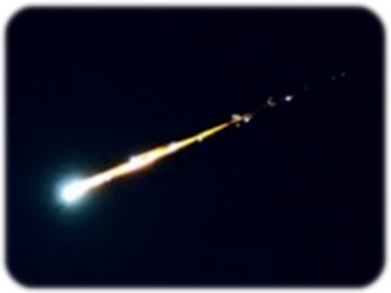 Bolide Fireball from meteorite entering Earth's Atmosphere